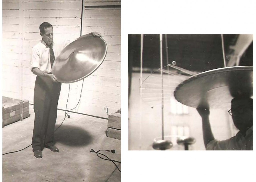 Left brown holding a flying disc tested in projectmontgolfier right